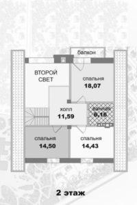 Дом-шале в Малаховке